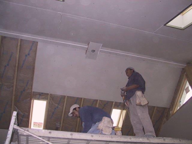 Drywall gets hung...