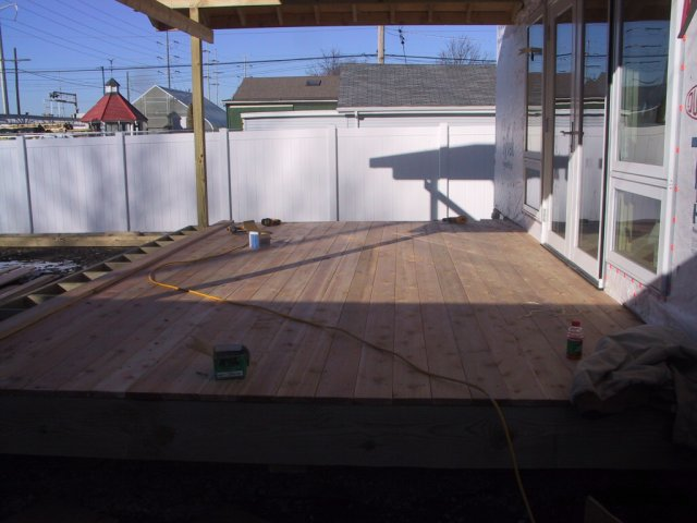 Cedar decking finishes the surface...