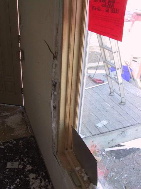 And even some drywall inside the house fractured.