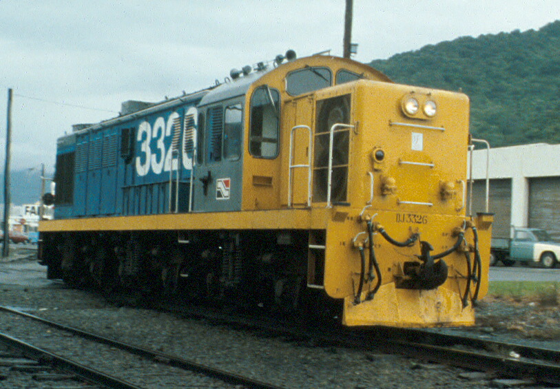Another image sent to me on 35mm Ektachrome film, taken in Greymouth on 5 Feb, 1987.